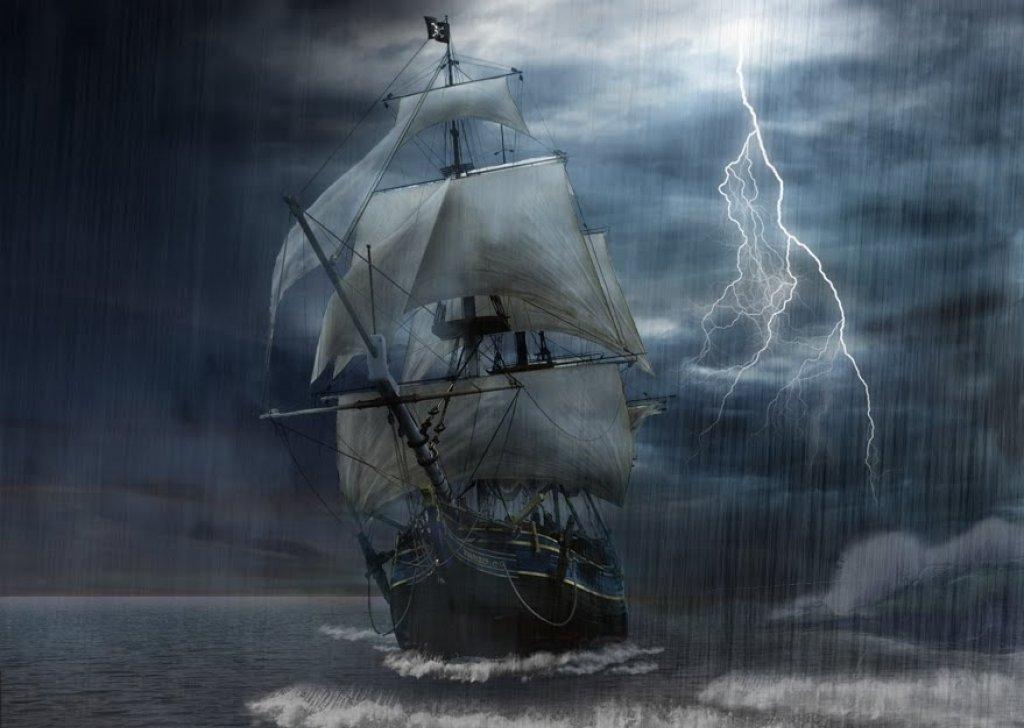 sailing on deep water storm audio atmosphere