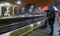 Thunderstorm at the Train Station